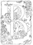 coloriage enfant Alphabet Fees