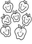 coloriage enfant Fruits Legumes